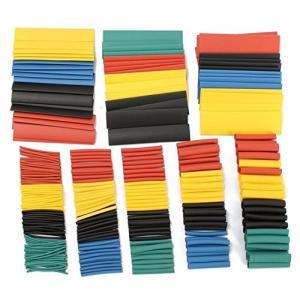 サイズやカラーが多種多様で、使い分けが出来る便利な熱収縮チューブセットです。 電子機器の配線や工作な...