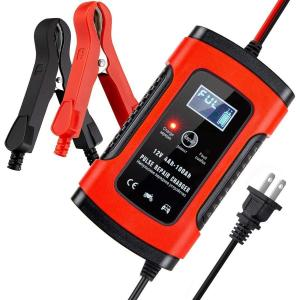 バッテリー 充電器 LED バッテリーチャージャー メンテナンス充電器  6A12V 全自動 兼用 ...