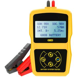 バッテリーテスター車用 デジタル バッテリーチェッカー バッテリー診断器 12V蓄電池用 電圧、抵抗...