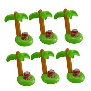 誕生日プレゼント 母 MIREN Inflatable Palm Island Drink Holders, Floatation Devices, Inflate Floating Coasters, 6 Pack 正規輸入品