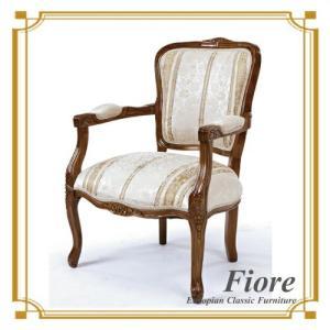 ダイニングチェア チェア 椅子 イス おしゃれ 単品 木製 ストライプホワイト Fiore(フィオーレ)