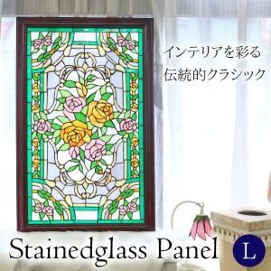 ステンドグラスパネル ビューティフルローズ パネル ステンド ステンドガラス ステンドパネル おしゃ...