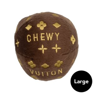 Dog Diggin Designs(ドッグディギンデザインズ)Chewy Vuiton Ball Toy Lg ykozakka