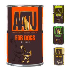 AATU(アートゥー)チキン, ビーフ&バッファロー, ラム, ダック&ターキー缶 400g|ykozakka