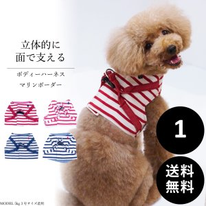 WEB限定30%OFF 犬と生活 マリンボーダーハーネス 1号 送料無料|ykozakka