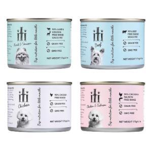 iti イティ缶 犬 チキン缶 チキン&サーモン缶 ラム&ベニソン缶 ビーフ缶 ドッグフード ウェットフード 缶詰|ykozakka