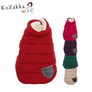 犬 トワエモア toietmoi 発熱素材 +5.5℃ ジャケット コート ニットベアベスト ニットベスト 中綿ダウン 服|ykozakka