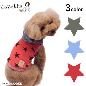 犬 パーカ ビンテージ星パーカー Toi et Moi トワエモア 服 ドッグウェア 袖なし 星 スター 猫 ペット|ykozakka