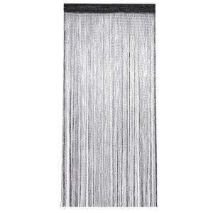 ストリングカーテン 《ブラックシルバー》 100×200cm 紐 のれん 部屋 仕切り ストリングス(定形外郵便、代引不可、送料別商品) yleciel