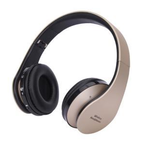 超高音質 無線 HQヘッドフォン 《ゴールド》 Bluetooth マイク搭載 折りたたみ 音漏れ防止(送料別商品)|yleciel
