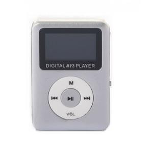 ミニ MP3プレーヤー 《シルバー》 小型 コンパクト microSDカード式 デジタルオーディオプレーヤー(定形外郵便、代引不可、送料別商品)|yleciel