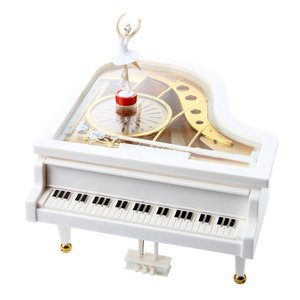 バレリーナが踊る 回転 オルゴールピアノ おしゃれ インテリア ゼンマイ式 楽曲選択不可(送料別商品) yleciel