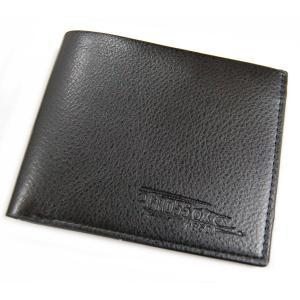 メンズ 二つ折り財布 横型 ブラック レザー調 財布 カード入れ カード収納 札入れ 定期入れ シンプル ビジネス(定形外郵便、代引不可、送料別商品)|yleciel