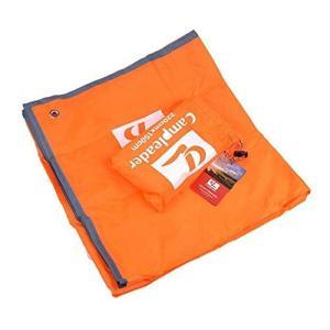 ソロキャンプ マルチパーパスシート 《オレンジ》 軽量 防水 レジャーシート テント シェルター ツェルト グランドシート(送料別商品)|yleciel