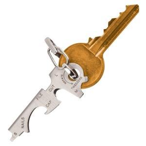 8in1 キーフィットマルチツール カッター ピンセット 爪やすり 眼鏡用ドライバー マイナスドライバー(定形外郵便、代引不可、送料別商品)|yleciel