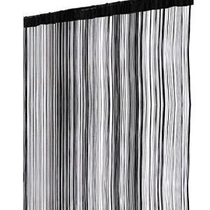 ひもスクリーン 100×200cm 《ブラック》 ストリングカーテン のれん 間仕切り おしゃれ インテリア オフィス家具(ゆうパケット、代引不可、送料別商品) yleciel