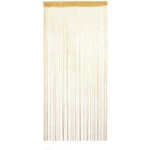 ひもスクリーン 100×200cm 《ベージュ》 ストリングカーテン のれん 間仕切り おしゃれ インテリア オフィス家具(ゆうパケット、代引不可、送料別商品) yleciel