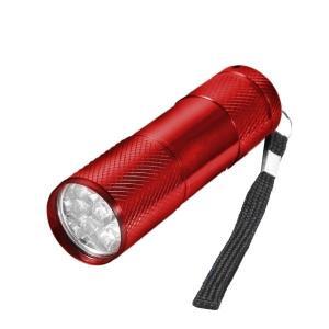 汚れ発見機 《レッド》  UV 紫外線ライト LED ブラックライト 9灯 汚れ 釣り チェック 偽造防止(定形外郵便、代引不可、送料別商品)|yleciel