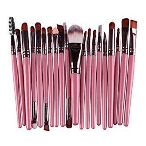 メイクブラシ 20種類セット 《Cタイプ》 《ピンクカラー》 メイク筆 化粧筆 チップ 美容 化粧品(ゆうパケット、代引不可、送料別商品)|yleciel