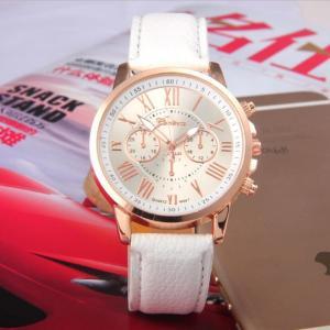腕時計 時計 レディース アナログクォーツウォッチ LDN186 《ホワイト》 おしゃれ シンプル (定形外郵便、代引不可、送料別商品)|yleciel