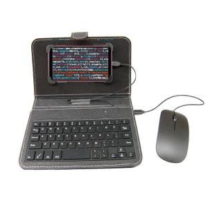 スマホ キーボード付ケース & マウス セット 《ブラック》 Android OTG キーボード ケース (送料別商品)|yleciel