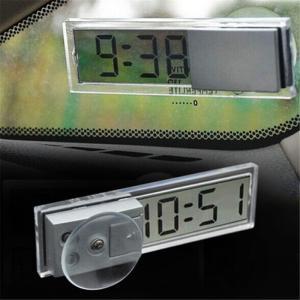 超薄型 デジタル時計 吸盤式 車載 小型 シンプル キッチン リビング(定形外郵便、代引不可、送料別商品) yleciel