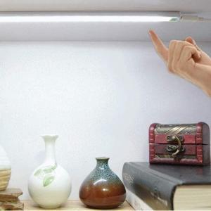 ワンタッチ LEDセンサーライト LED21灯 USBライト バーライト デスクライト(定形外郵便、代引不可、送料別商品)