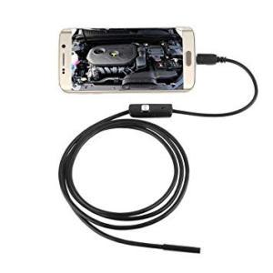 探偵 カメラスコープ 《2m》 レンズ直径5.5mm 水溝 パイプライン 隙間 車 整備 検査 カメラ ファイバースコープ (定形外郵便、代引不可、送料別商品)|yleciel