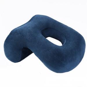 腕がしびれない デスク用お昼寝枕 《ブルー》 昼寝クッション 枕 ネックピロー(送料別商品) yleciel