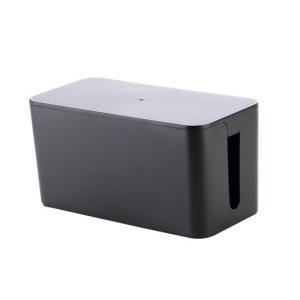 ケーブル収納 ケーブルボックス 《Sサイズ》 《ブラック》 コード収納 タップボックス タップ収納(...