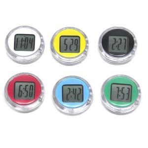 バイククロック バイク用 ミニ デジタル時計 防水 カラーランダム(定形外郵便、代引不可、送料別商品) yleciel