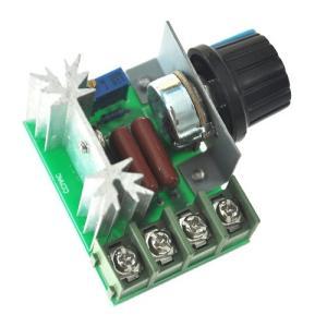 2000W サイリスタ 電圧調整 ハイパワー電子レギュレーター 調光ライト スピード温度監視(定形外郵便、代引不可、送料別商品) yleciel