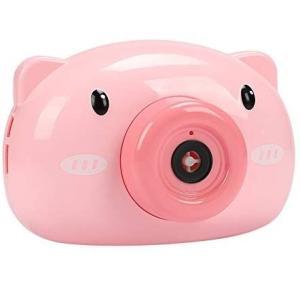 バブルカメラ ブタ 《ピンク》 シャボン玉マシーン 電動 しゃぼん玉 製造機 音 子供(定形外郵便、代引不可、送料別商品)|yleciel