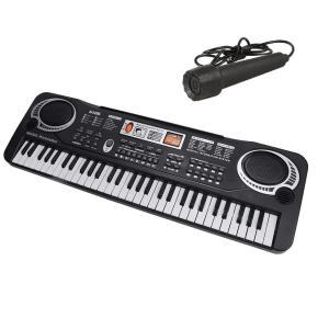 マイク付き エレクトロキーボード 61鍵盤 多機能 電子キーボード 子供 玩具 おもちゃ ピアノ(送料別商品) yleciel