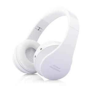 超高音質 無線 HQヘッドフォン 《ホワイト》 Bluetooth マイク搭載 折りたたみ 音漏れ防止(送料別商品)|yleciel