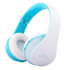 超高音質 無線 HQヘッドフォン 《ブルー》 Bluetooth マイク搭載 折りたたみ 音漏れ防止(送料別商品)|yleciel