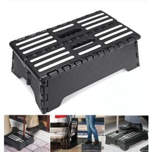 折りたたみ式 補助 踏み台 耐荷重120kg 補助階段 スツール 玄関 車 ベッド 高齢者 介護(送料別商品)|yleciel