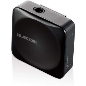 エレコム Bluetoothオーディオレシーバー お手持ちのイヤホンを簡単無線化 スクエアタイプ ブラック LBT-PAR01AVBK(定形外郵便、代引不可、送料別商品)|yleciel