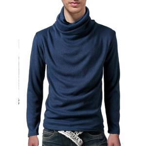[モノア] タートルネック トレーナー Tシャツ メンズ ファッション 長袖 アフガン風 ハイネック...
