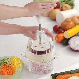 野菜の回転スライサー 野菜調理器 クルル clulu (ホワイトベージュ)