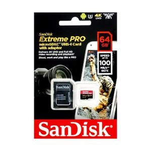 《新品アクセサリー》 SanDisk (サンディスク) ExtremePRO microSDXCカード 64GB SDSQXCG-064G-GN6MA 海外パッケージ版|ymapcamera