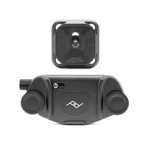 《新品アクセサリー》 peak design (ピークデザイン) キャプチャーカメラクリップ V3 スタンダードプレート付き ブラック [ ストラップ ]|ymapcamera