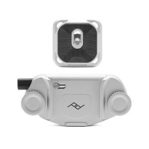 《新品アクセサリー》 peak design (ピークデザイン) キャプチャーカメラクリップ V3 スタンダードプレート付き シルバー [ ストラップ ]|ymapcamera