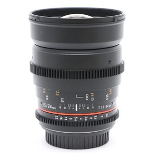 《美品》SAMYANG 24mm T1.5 VDSLR ED AS IF UMC II (キヤノンEF)|ymapcamera