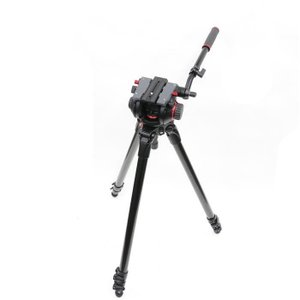 《美品》Manfrotto 535 MPROカーボンファイバー 3段ビデオ三脚+ 504HD雲台セット|ymapcamera