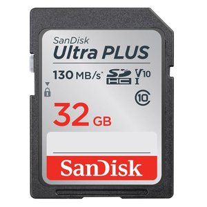 《新品アクセサリー》 SanDisk (サンディスク) UltraPLUS SDHCカード UHS-I 32GB SDSDUW3-032G-JNJIN3661V02701|ymapcamera