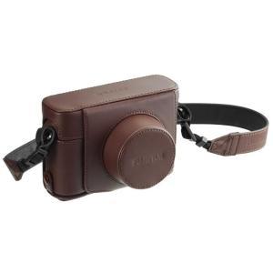 《新品アクセサリー》 FUJIFILM (フジフィルム) レザーケース LC-X100F ブラウン|ymapcamera