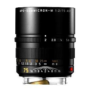《新品》 Leica(ライカ) アポズミクロン M 75mmF2 ASPH.(6bit) ブラック|ymapcamera