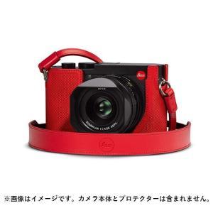 《新品アクセサリー》Leica (ライカ)  Q2用 レザーストラップ レッド [ ストラップ ] ymapcamera
