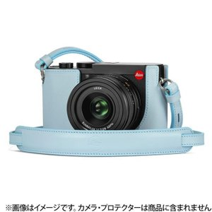 《新品アクセサリー》 Leica (ライカ) Q2用 レザーストラップ ライトブルー ymapcamera